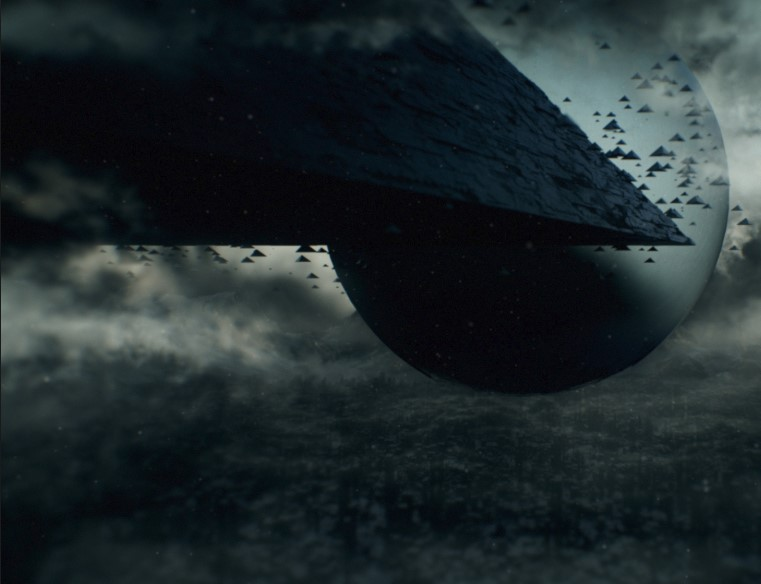 The Shattered Mirror Is The Massive Pyramid Ship From