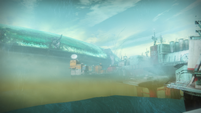 The New Pacific Arcology, as seen from the Sinking Docks