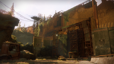 The wall surrounding the area of the EDZ in which the Shard of the Traveler is located.